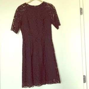 Navy blue lace Madewell dress